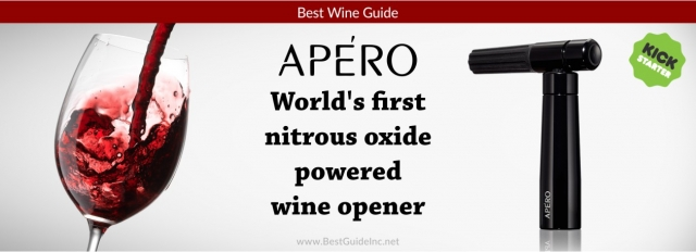 APÉRO - The world's first nitrous oxide powered wine opener