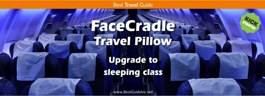 FaceCradle travel pillow - Upgrade to sleeping class